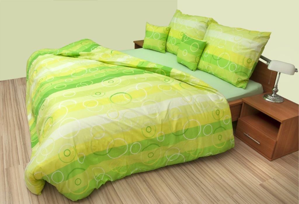 Krepový povlak na polštář Bublina zelená Skladem 1ks, Výběr rozměru: 45x60