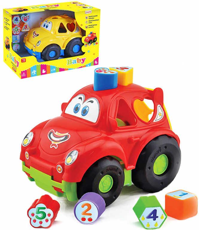 Baby auto vkládačka se 6 tvary počítání plast 2 barvy pro miminko