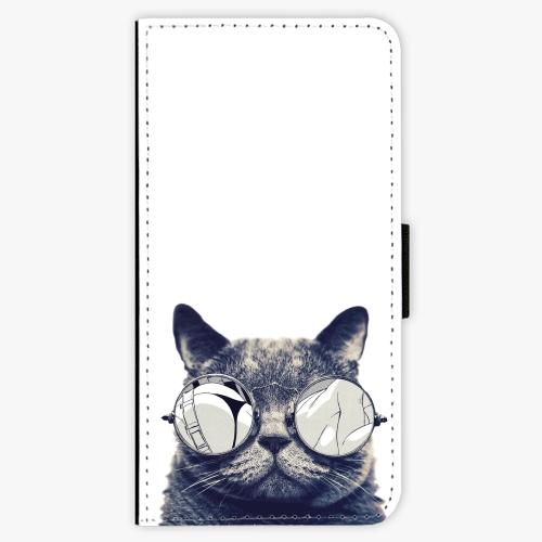 Flipové pouzdro iSaprio - Crazy Cat 01 - Samsung Galaxy S9