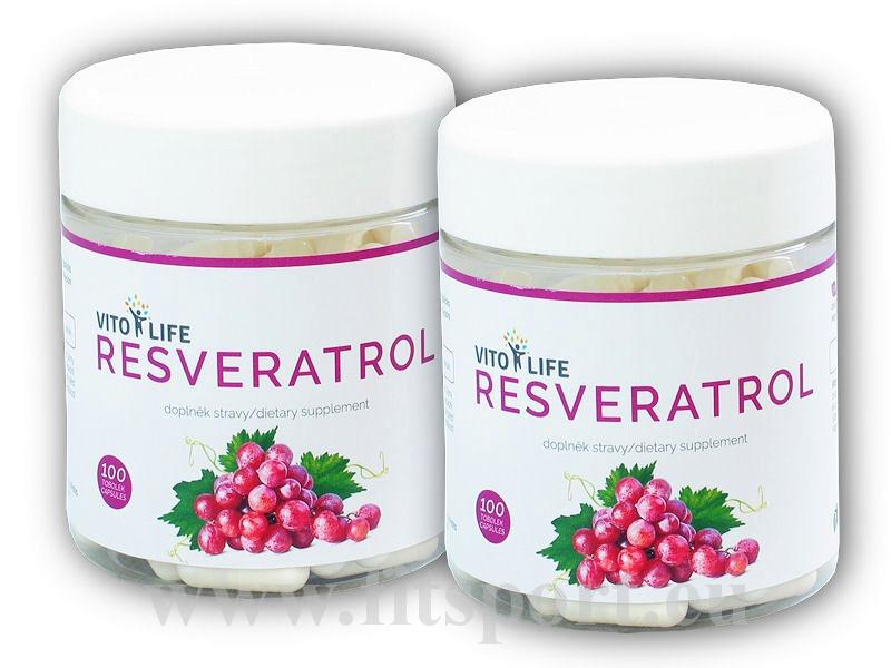 2x Resveratrol 100 kapslí