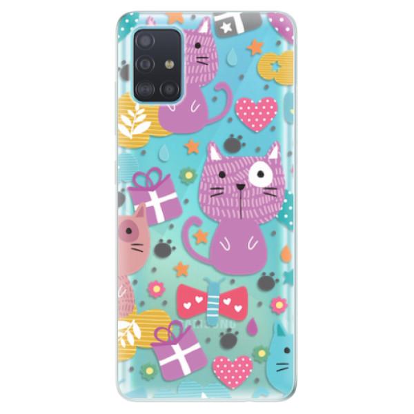 Odolné silikonové pouzdro iSaprio - Cat pattern 01 - Samsung Galaxy A51