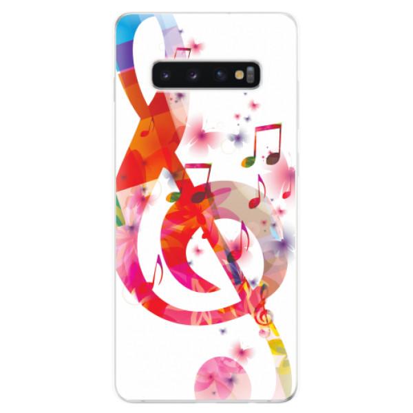 Odolné silikonové pouzdro iSaprio - Love Music - Samsung Galaxy S10+