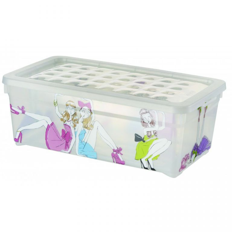 Plastový box s víkem - S - PANENKY CURVER