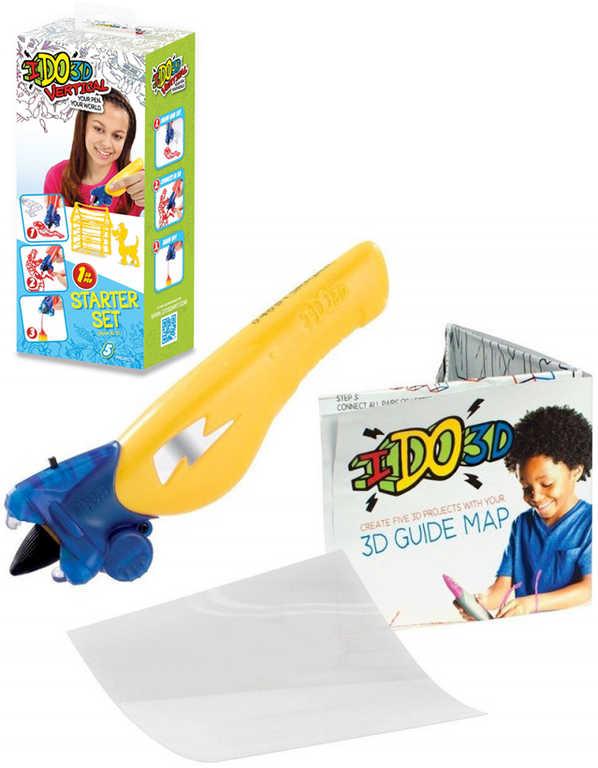 IDO3D Vertikal magické pero žluté 3D kreslení tuhne pod UV světlem set s doplňky
