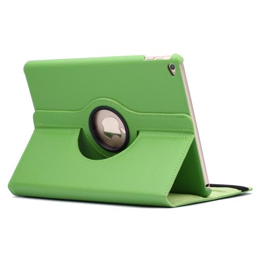 Kožený kryt / pouzdro Smart Cover Rotation Litchi pro iPad Air 2 zelený
