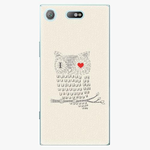 Plastový kryt iSaprio - I Love You 01 - Sony Xperia XZ1 Compact