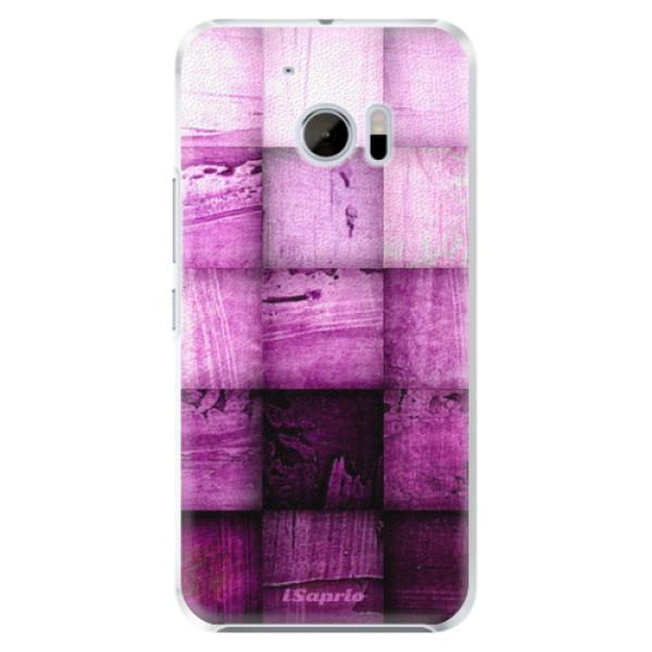 Plastové pouzdro iSaprio - Purple Squares - HTC 10