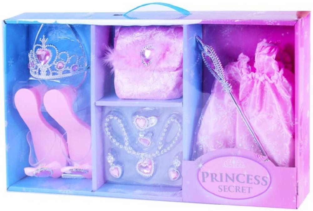 KARNEVAL Velká sada zimní princezna růžová v krabici KARNEVALOVÝ DOPLNĚK