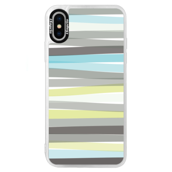 Neonové pouzdro Blue iSaprio - Stripe - iPhone XS