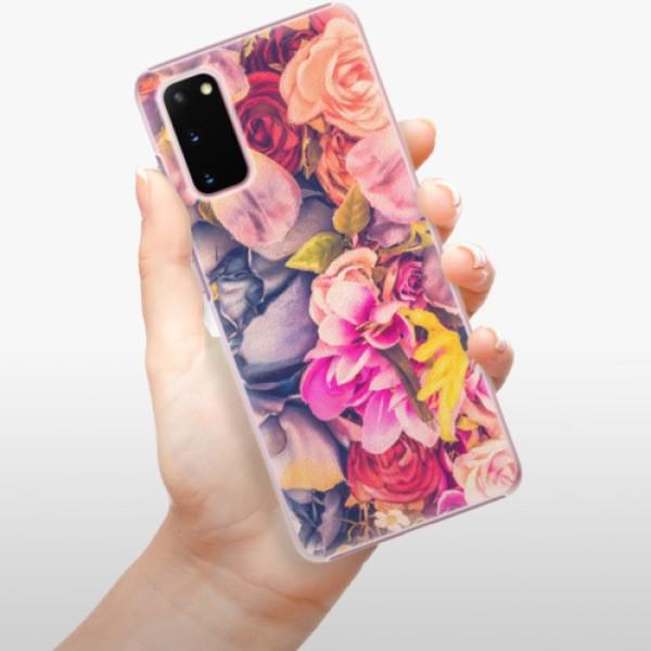 Plastové pouzdro iSaprio - Beauty Flowers - Samsung Galaxy S20