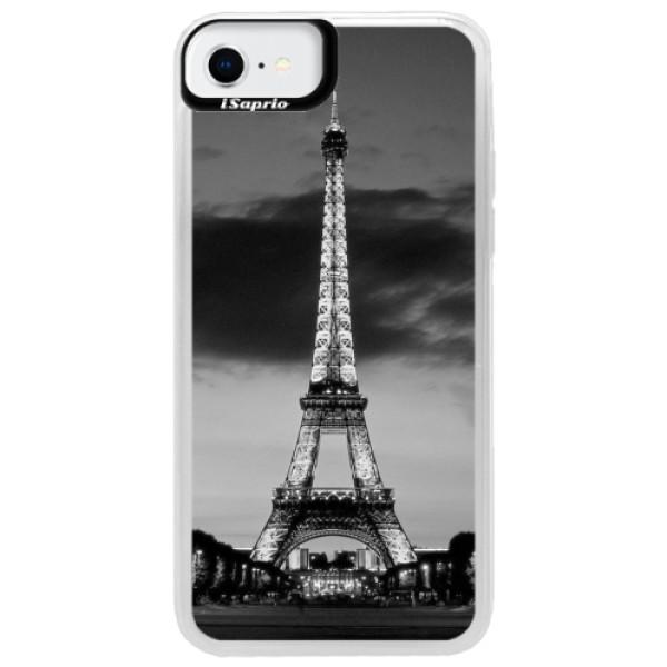 Neonové pouzdro Pink iSaprio - Midnight in Paris - iPhone SE 2020