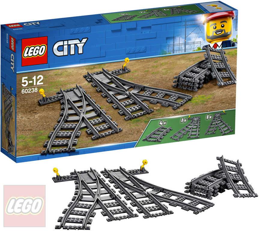 LEGO CITY Výhybky a zahnuté koleje doplněk k vláčkodráze 60238