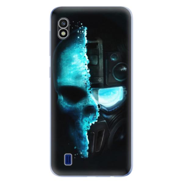 Odolné silikonové pouzdro iSaprio - Roboskull - Samsung Galaxy A10