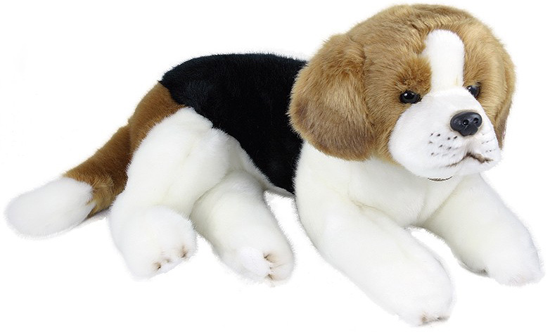 PLYŠ Pes bígl ležící 38cm *PLYŠOVÉ HRAČKY*