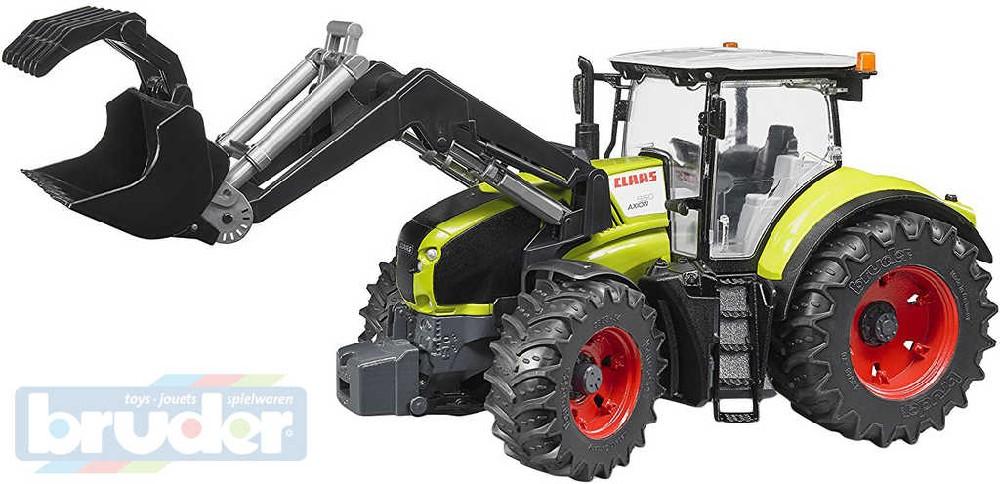 BRUDER 03013 Traktor Claas Axion 950 s čelním nakladačem 1:16 plast