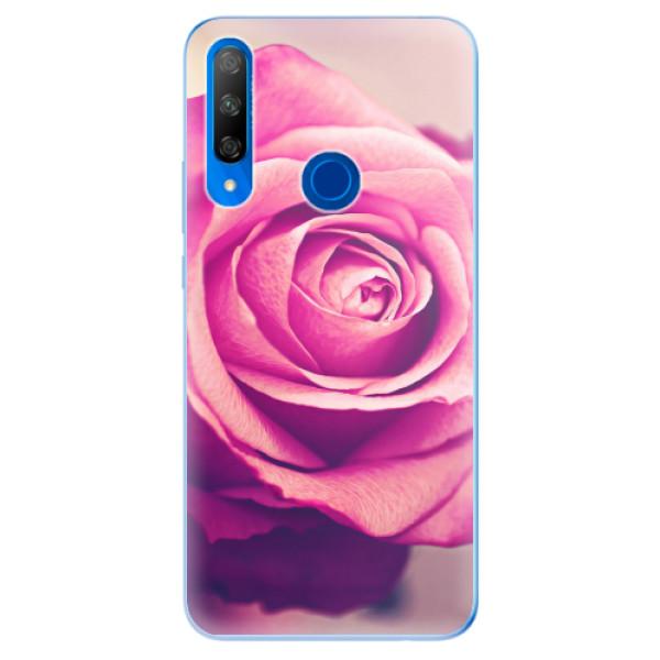 Odolné silikonové pouzdro iSaprio - Pink Rose - Huawei Honor 9X