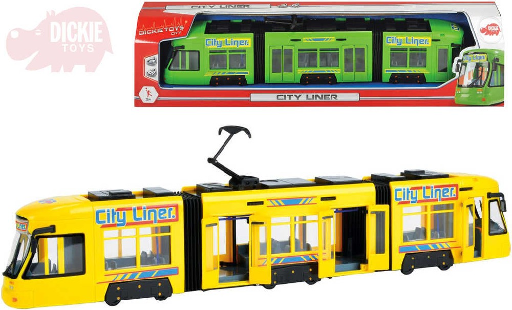 DICKIE Tramvaj 46 cm volný chod otevírací dveře - 2 barvy