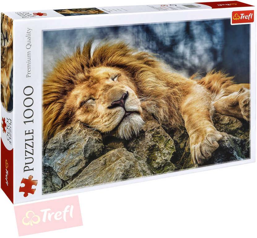 TREFL PUZZLE Foto Spící lev 1000 dílků 68x48cm skládačka 110447