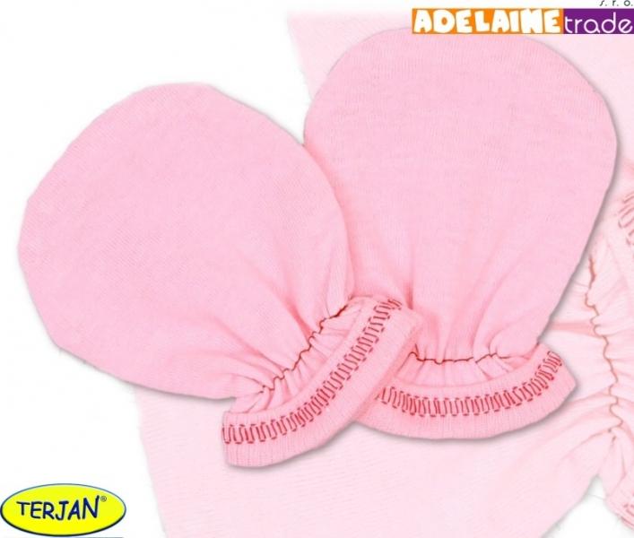 Rukavičky bavlna Terjan - růžové, vel. 2