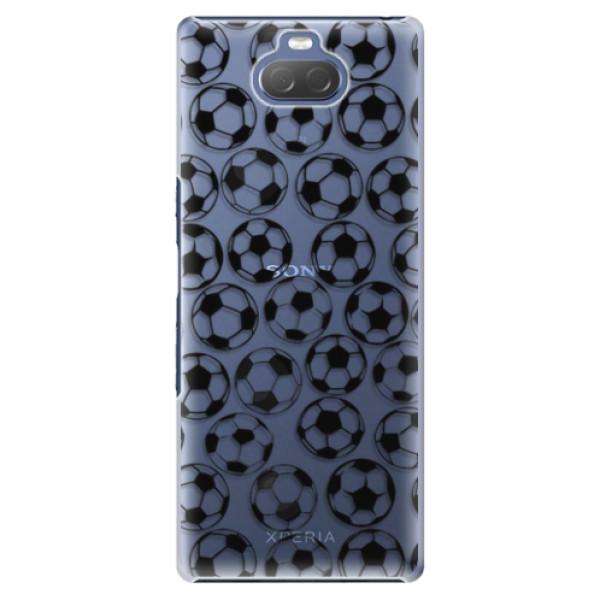 Plastové pouzdro iSaprio - Football pattern - black - Sony Xperia 10