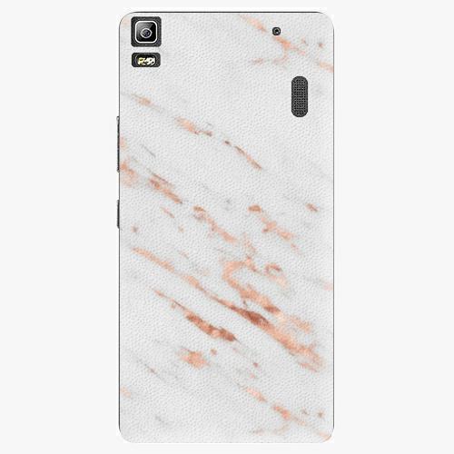 Plastový kryt iSaprio - Rose Gold Marble - Lenovo A7000