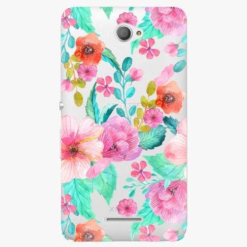 Plastový kryt iSaprio - Flower Pattern 01 - Sony Xperia E4