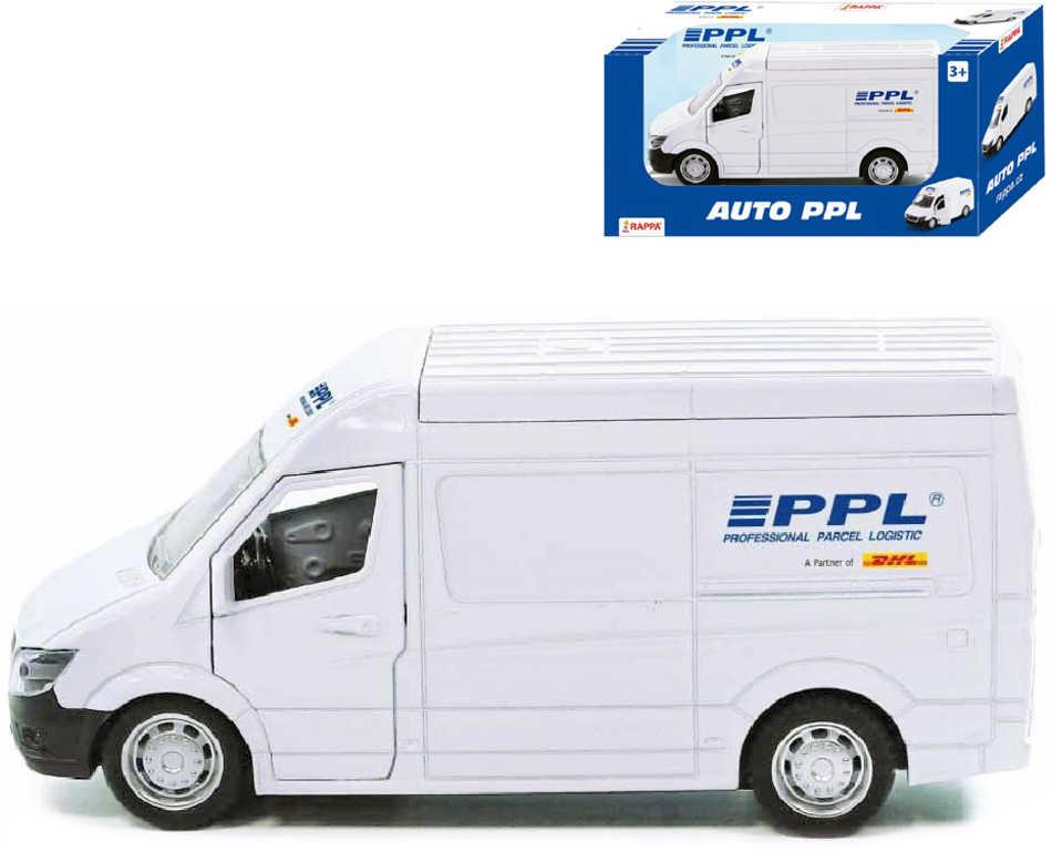 Auto přepravní společnost PPL kovová dodávka 14cm zpětný chod