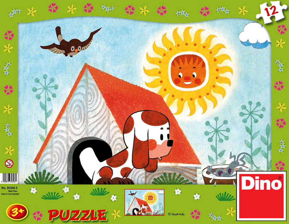 DINO Puzzle Štěňátko 12 dílků 31x23cm v krabici