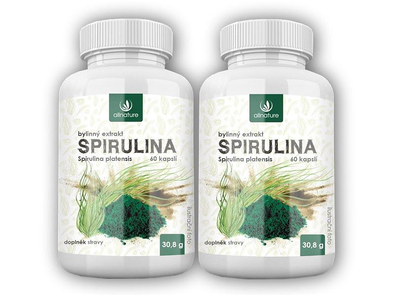 2x Spirulina bylinný extrakt 60 kapslí