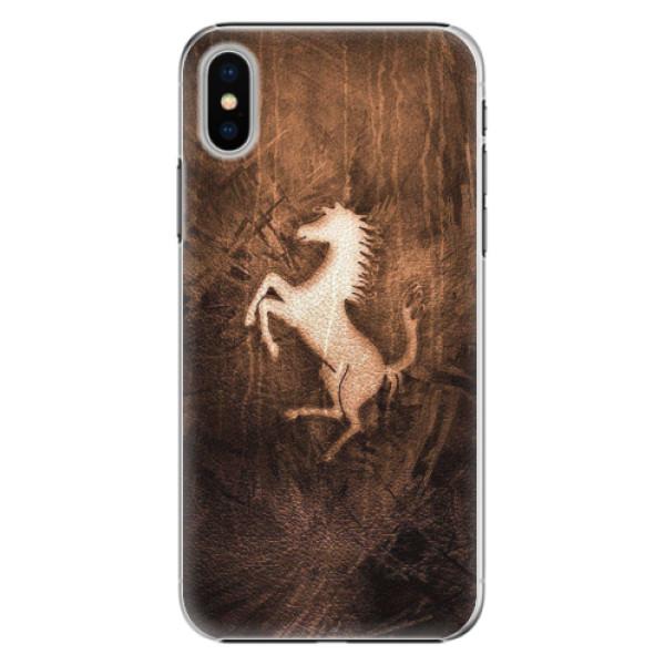 Plastové pouzdro iSaprio - Vintage Horse - iPhone X