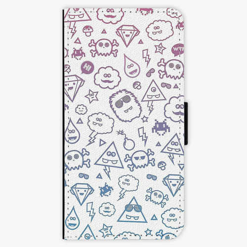 Flipové pouzdro iSaprio - Funny Clouds - iPhone 5/5S/SE