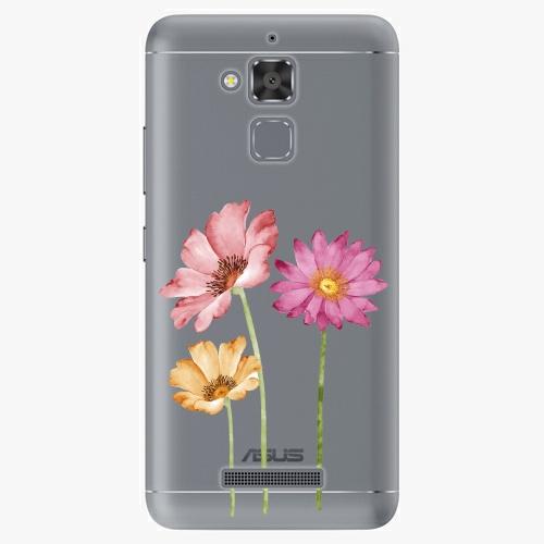Plastový kryt iSaprio - Three Flowers - Asus ZenFone 3 Max ZC520TL