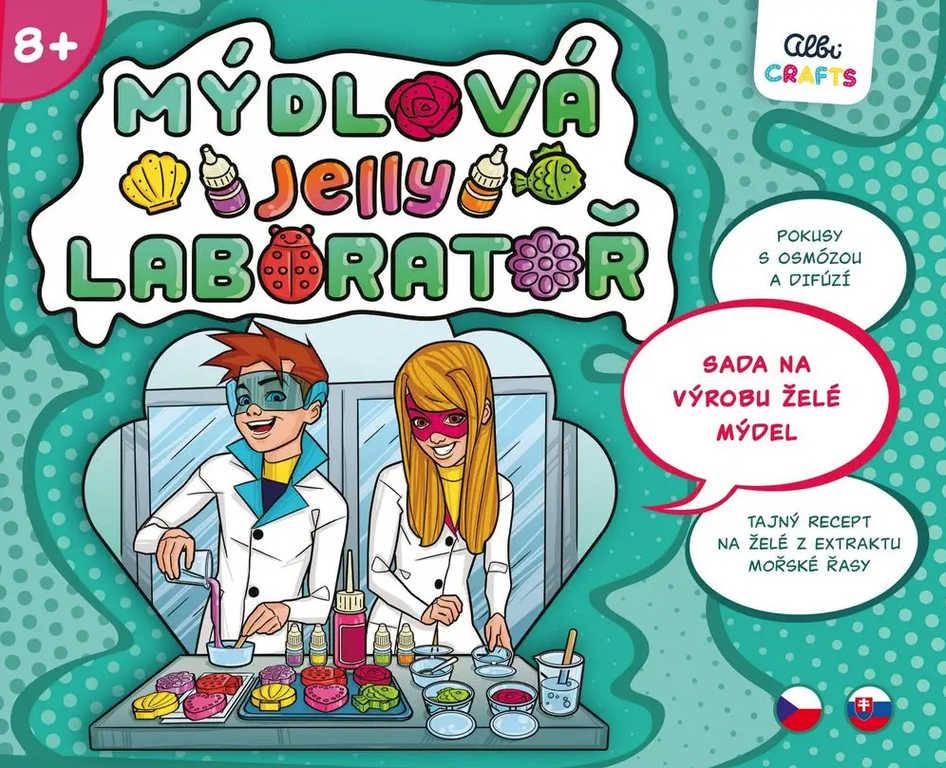 ALBI Crafts Mýdlová laboratoř jelly kreativní set výroba mýdel