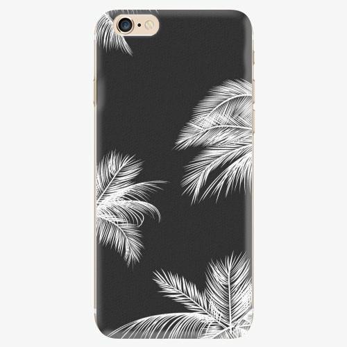 Silikonové pouzdro iSaprio - White Palm - iPhone 6/6S
