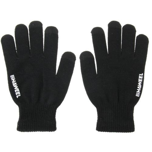 Dámské kapacitní rukavice Hawell pro ovládání dotykových zařízení - černé