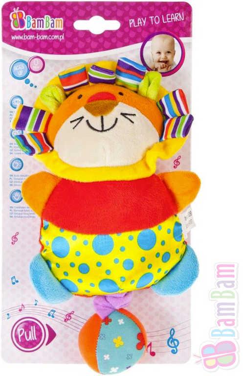 ET BAM BAM PLYŠ Baby přívěšek plyšový Lev hrající pro miminko Zvuk