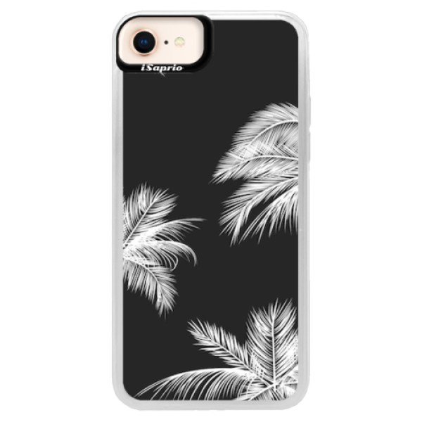 Neonové pouzdro Pink iSaprio - White Palm - iPhone 8
