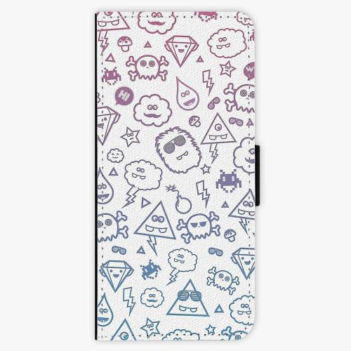 Flipové pouzdro iSaprio - Funny Clouds - Samsung Galaxy Note 8