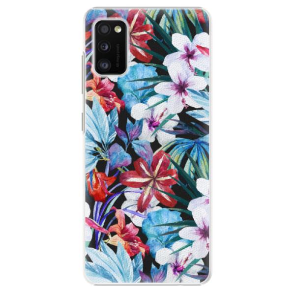 Plastové pouzdro iSaprio - Tropical Flowers 05 - Samsung Galaxy A41