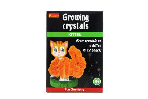 Rostoucí krystaly kočka