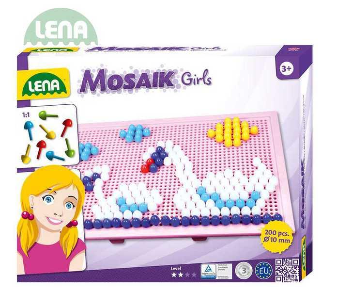 LENA Mozaika klobouček 1 cm 200 kusů Pro holky Velká sada
