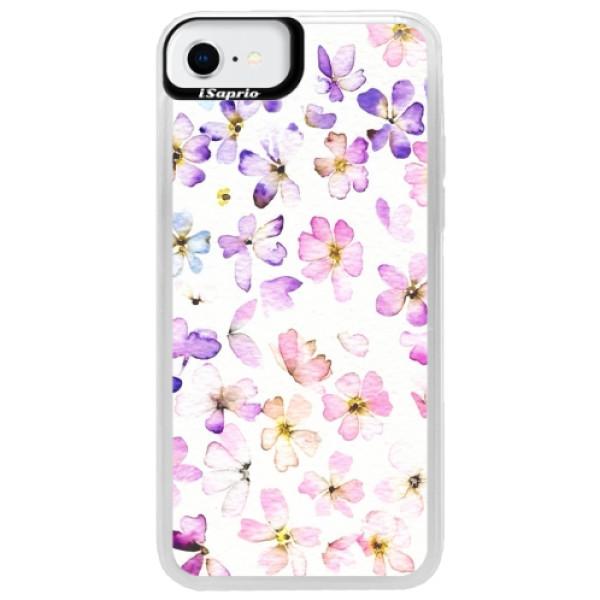 Neonové pouzdro Pink iSaprio - Wildflowers - iPhone SE 2020