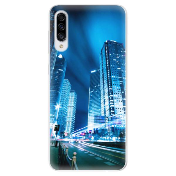 Odolné silikonové pouzdro iSaprio - Night City Blue - Samsung Galaxy A30s