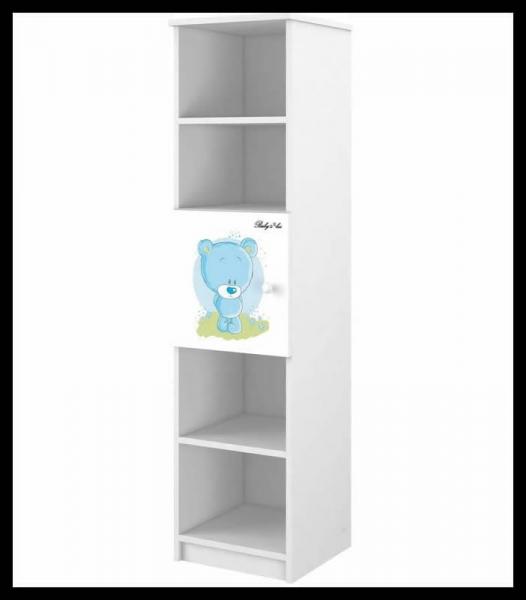 BabyBoo Regál - Medvídek STYDLÍN modrý, D19