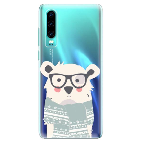 Plastové pouzdro iSaprio - Bear with Scarf - Huawei P30