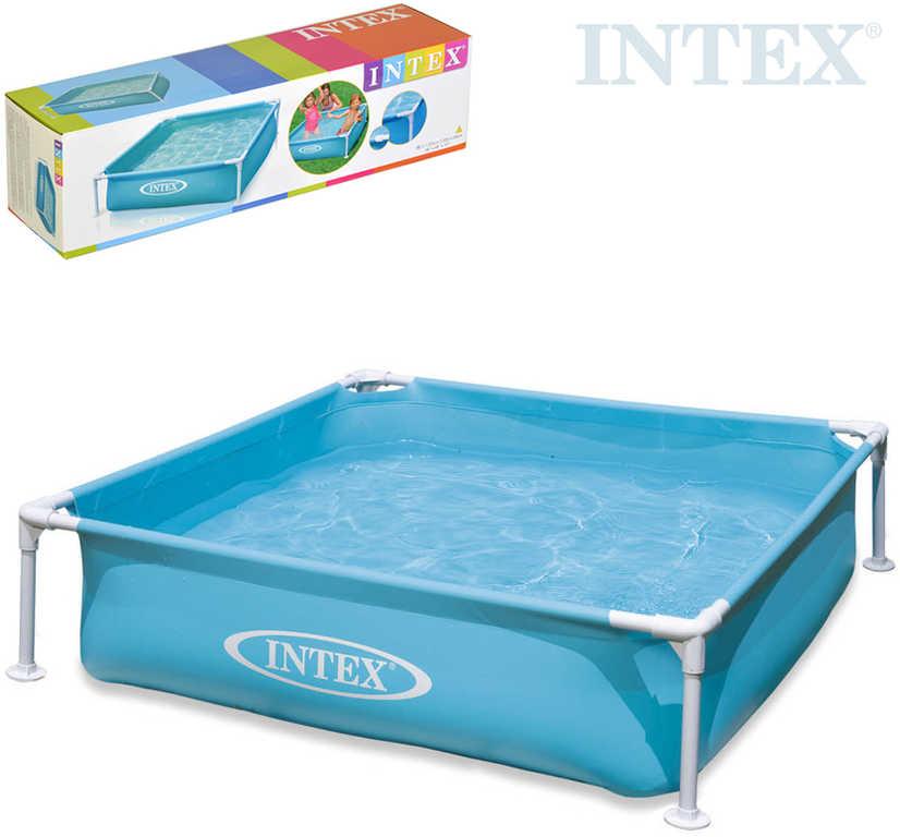 INTEX Baby bazén dětský čtvercový s rámem 122x30cm nadzemní samonosný 57173