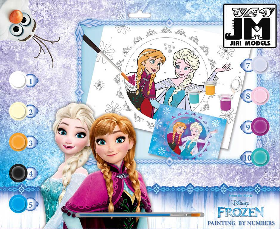 JIRI MODELS Malování podle čísel A3 Frozen (Ledové Království) set s barvičkami