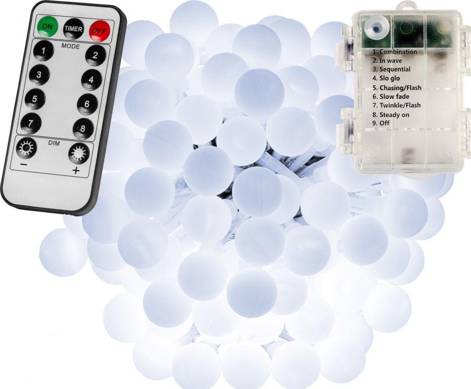 Párty LED osvětlení 20 m - studená bílá 200 diod - BATERIE
