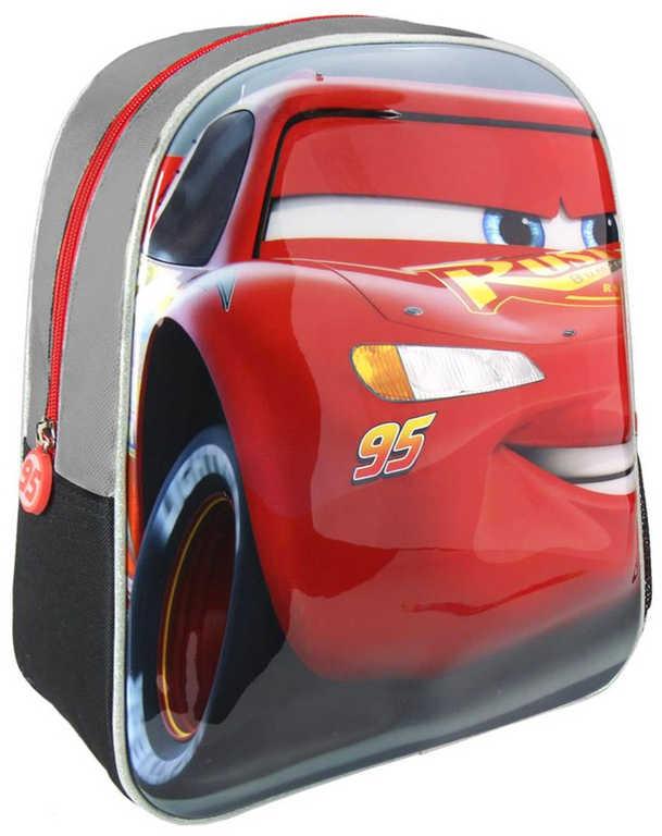 Batůžek dětský 3D 25x31x10cm Cars (Auta) Blesk McQueen boční kapsy