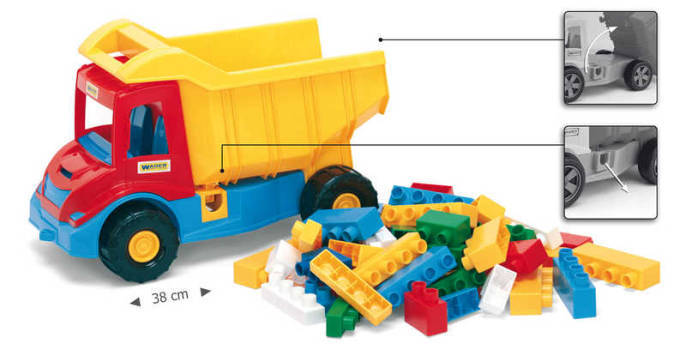 WADER Auto plastové multitruck set s kostkami 32330